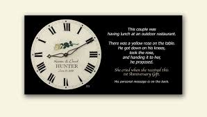 1st anniversary gifts for anniversary clock 1st anniversary gifts borin custom clocks
