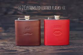 handmade personalized gifts 2 custom leather flasks handmade personalized gifts for groom and