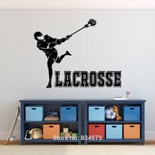 online get cheap teen boys wall art aliexpress com alibaba group lacrosse sport teens boys silhouette wall art stickers decal home diy decoration wall mural removable room