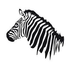 illustrative zebra tattoo on the right shoulder blade tattoo
