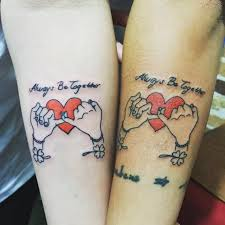 matching tattoos for couples in love tattoo collections