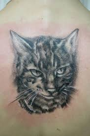 black lucky cat tattoo