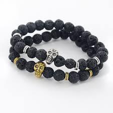 bracelet skull beads images Gold skull bracelet men images jpg