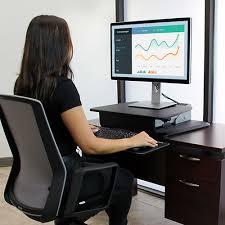 bureau pour travailler debout poste de travail debout fixation d écran startech com