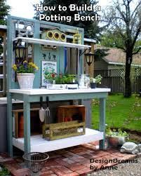 Garden Potting Bench Ideas How To Build A Potting Bench Mix Of New Materials I
