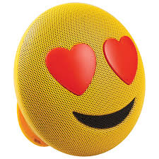 wine emoji jam jamoji emoji love struck bluetooth wireless speaker yellow