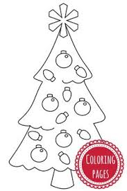 simple christmas ornaments coloring kids coloring