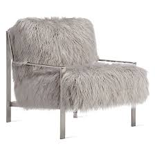 Silver Accent Chair Axel Fur Accent Chair Brushed Silver Design Award Expert