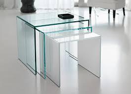white nest of tables tonelli trio nest of glass coffee tables tonelli design modern