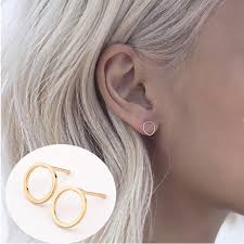 ear earring aliexpress buy 2 pair new fashion simple t bar earrings