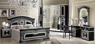 White And Silver Bedroom Furniture Aida Bedroom Set In Black Silver 2 950 00 Furniture Store
