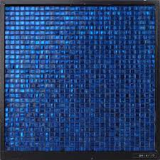Decorative Bathroom Tile by Gm14 10 Waterproof Dark Blue Glass Mosaic Bathroom Wall Decorative