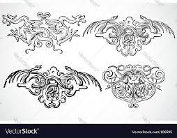 snake ornaments royalty free vector image vectorstock