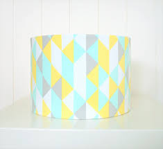 Yellow Floor Lamp Shade Mint Yellow Grey Lampshade For Table Or Floor Lamps Seconds