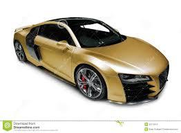 Audi R8 Gold - audi r8 sports car on white stock photo image 39113413