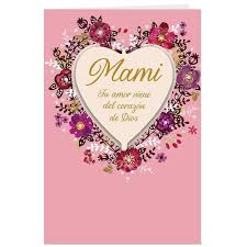 thank you spanish language valentine u0027s day card for mom greeting