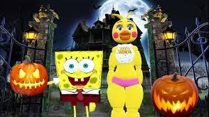 Chica Halloween Costume Chica U0026 Spongebob Trapped Haunted House Gmod Fnaf Sandbox