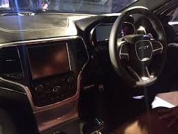 2017 jeep grand cherokee dashboard jeep grand cherokee srt india launch interior photo carblogindia