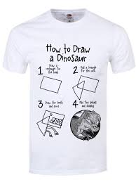 how to draw a dinosaur s white t shirt buy at