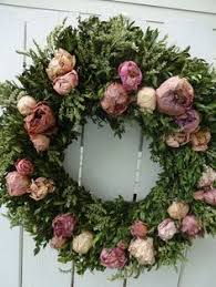 boxwood wreath mothers day floral wreath dried wreath dried roses