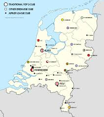Map Of Netherlands Map Of The Teams In The Netherlands Top Two Leagues Oc Soccer