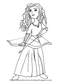 Brave Merida Coloring Pages Disney Brave Coloring Pages