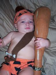 Infant Bam Bam Halloween Costume Simple U0026 Cheap Family Costumes Tiny Kelsie