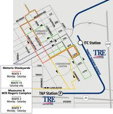fort worth map dart org downtown fort worth route map