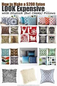 futon pillows make a futon look expensive w futon pillows covers