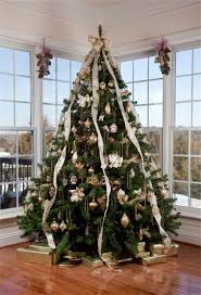 ribbon christmas tree laeacco ribbons christmas tree window indoor photography