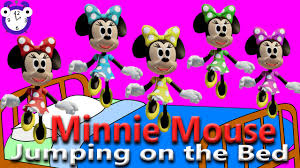 5 monkeys jumping bed minnie mouse finger