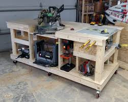 diy miter saw bench the home depot bench plans free and