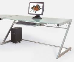 Glass L Shaped Computer Desk Atrium Metal And Glass L Shaped Computer Desk Multiple Colors