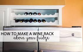 wine racks for kitchen cabinets you know that useless cabinet above your fridge turn it into a