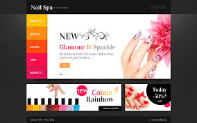 nail salon website template 45260