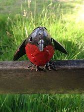 recycled metal robin garden ornament