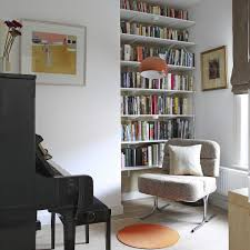 wall indent family room contemporary with floor lamp industrial