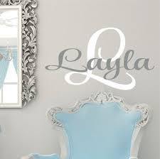 Baby Monogram Wall Decor Best 25 Monogram Wall Decals Ideas On Pinterest Personalized