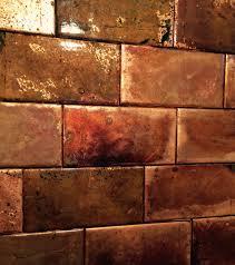 Interior  Copper Tile Backsplash  With Copper Tile Backsplash - Copper tile backsplash