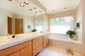 recessed lighting in bathroom over vanity interiordesignew com