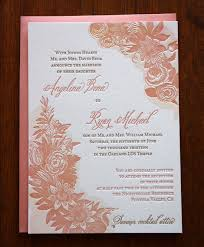 wedding invitations printing letterpress printed floral with watercolor lds wedding invitation