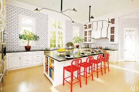 Yellow Accent Wall 27 Kitchens With Colorful Accents Photos Architectural Digest