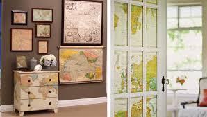 Domestication Home Decor Decorating With Maps Interior Design Ideas Wall Decor Belle Maison