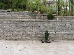 garden stacked stone wall texture alongside limestone