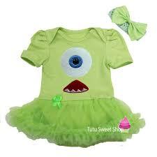 Infant Monsters Halloween Costumes Lime Green Monster Halloween Baby Newborn Onesie Bodysuit Tutu