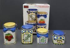 italian canister set ebay