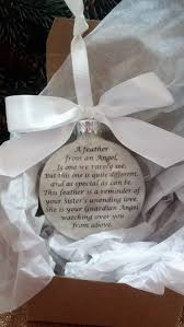 memorial ornament gift a feather from a