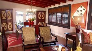 themed living room decor cuban inspired living room hgtv