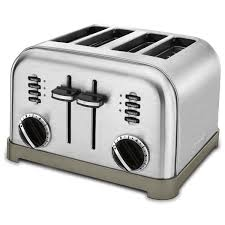 Best Buy Toasters 4 Slice Amazon Com Cuisinart Cpt 180 Metal Classic 4 Slice Toaster