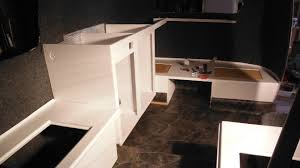 Trailer Kitchen Cabinets 12 05 P2 Boler Trailer Kitchen Cabinet And Dinette Bench Install